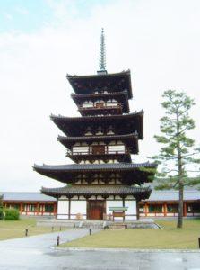 Yakushiji the three stored pagoda