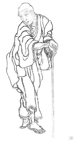 Katsushika Hokusai self-portrait