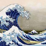 Evolution of Hokusai's wave paintings