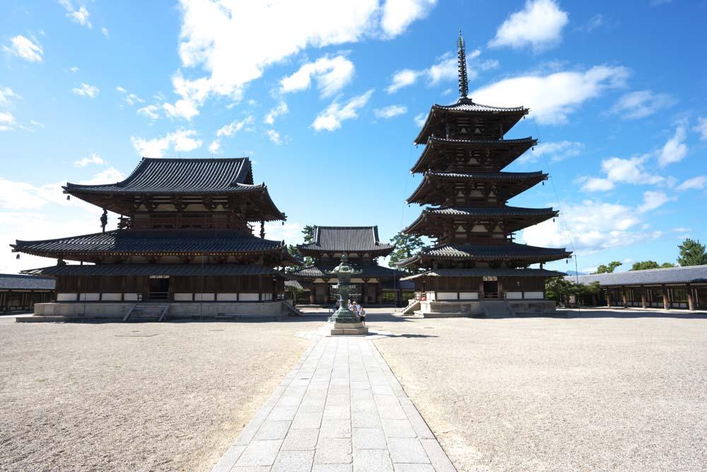 Horyuji temple. Nara World Heritage Site.
