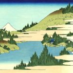 Japanese woodblock art, 'The lake of Hakone in Sagami Province' by Katsushika Hokusai