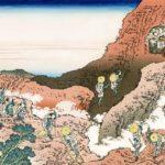 'Climbing on Fuji' by famous Japanese artist Katsushika Hokusai