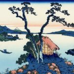 Katsushika Hokusai's art print 'Lake Suwa in Shinano Province'