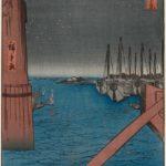 Tsukudajima and Eitai Bridge, by Utagawa Hiroshige