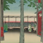 Sunrise at Kanda Myōjin Shrine, by Utagawa Hiroshige