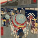 View of Nihonbashi itchōme Street, by Utagawa Hiroshige