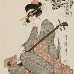 "Kitagawa Utamaro's ""Flowers of Edo"" bijinga ukiyo-e art prints"