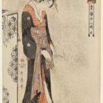 "Kitagawa Utamaro, ""Twelve Hours of the Green Houses "" woodblock prints"