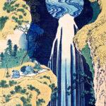 Hokusai's waterfalls ukiyo-e artworks and the art prints for sale