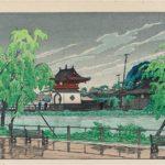 Shinobazu Pond in Rain, by Kawase Hasui