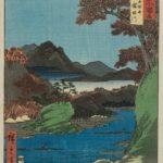 """""""Famous Views of the Sixty-odd Provinces"""" ukiyo-e art prints by Utagawa Hiroshige"""