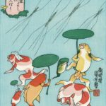 Utagawa Kuniyoshi, goldfishes ukiyo-e prints (Kingyo zukushi)
