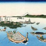 Katsushika Hokusai's Mt.Fuji art, 'Tsukuda Island in Musashi Province'