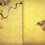 "Tawaraya Sotatsu, ""The Folding Screen of Fujin and Raijin"""