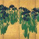 Ogata Korin's Irises on Folding Screen