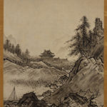 """Japanese ink painting:""""Landscapes of Autumn and Winter"""" by Sesshu"""