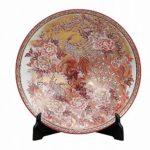 Japanese Kutani ware porcelain decorative plates for sale