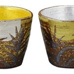 Ceramic sake cup sets from 4 Japanese traditional crafts
