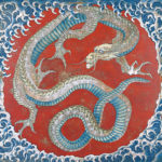 Hokusai's Dragon painting on the festival float