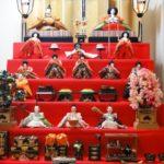 Hina dolls for Japanese Girls Festival (Hinamiatsuri)