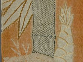 386px-Fragment_of_a_Kosode_(Kimono)_with_Design_of_Bamboo_and_Hexagon_Enclosed_Chrysanthemum_LACMA_M.39.2.252_(2_of_2)