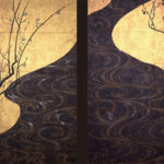 Red and White Plum Blossoms by Ogata Kōrin