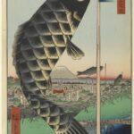 Suidō Bridge and the Surugadai Quarter, by Utagawa Hiroshige