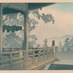 The Nigatsu-do Hall, Nara, by Kawase Hasui