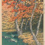Autumn at Oirase, by Kawase Hasui