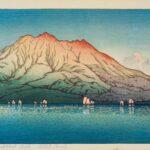 Sakurajima, Kagoshima, by Kawase Hasui