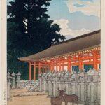 The Kasuga Shrine in Nara, by Kawase Hasui